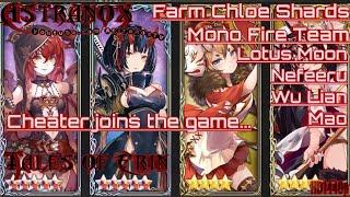 TALES OF ERIN Chloe Shards with Lotus Moon Nefeeru Mao Wu Lian - Mono Fire Team Gameplay Review #136