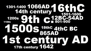 Centuries in History - How they Work