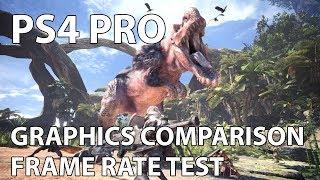 [4K] Monster Hunter World – PS4 Pro Frame Rate Test & Graphics Comparison