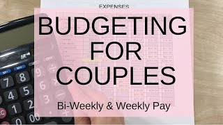 Budgeting For Couples   Weekly and Bi Weekly Paycheck Budget   Cash Envelope System