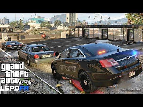GTA 5 LSPDFR 0.3.1 - EPiSODE 372  - LET'S BE COPS - CITY PATROL (GTA 5 PC POLICE MODS)
