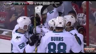 NHL: John Scott scored his first goal for San Jose Sharks