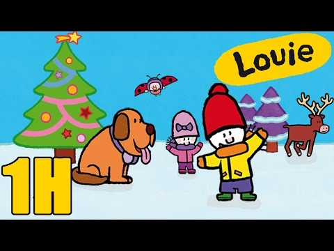 1 hour of Louie : Winter compilation #2   Learn to draw, cartoon for children