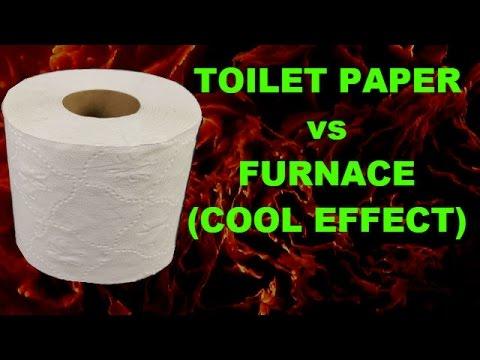 TOILET PAPER vs FURNACE @1000Degrees Celsius