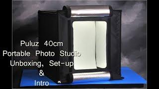 Puluz 40cm Portable Photo Studio Unboxing, Set-up & Intro screenshot 5