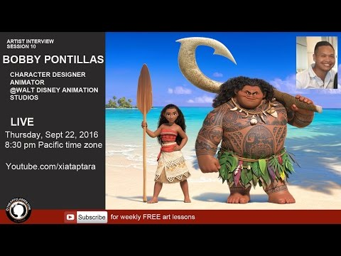 Interview with Disney character designer Bobby Pontillas - Moana the movie