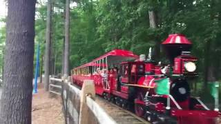 The Essex County Turtle Back Zoo's Red Train at The Loop
