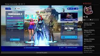 Jugando unas partidas en Fortnite