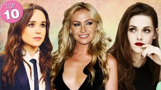 Top 10 Hottest/ Prettiest Lesbian Celebrities