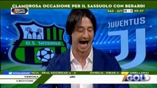 L'Esultanza Di OPPINI Ai Gol Di KHEDIRA RONALDO e EMRE CAN SASSUOLO JUVENTUS 0-3