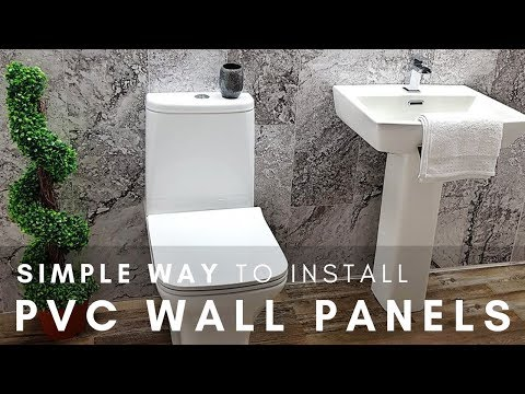 SIMPLE WAY To Install PVC Wall Panels