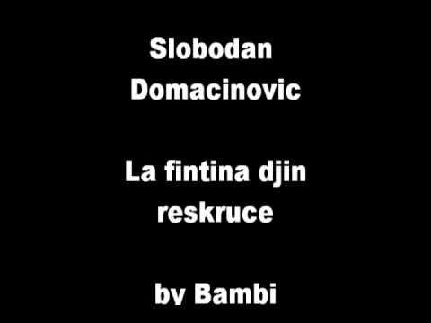 Slobodan Domacinovic -  La fintina djin reskruce