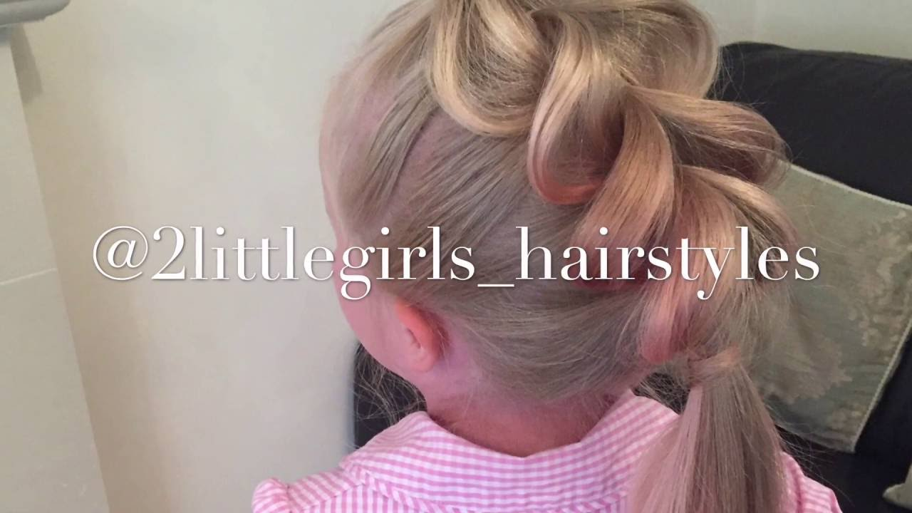 hair cut styles for little girls pull through ponytail by two hairstyles 3986 | maxresdefault