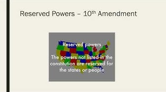 reserved and denied powers video notes