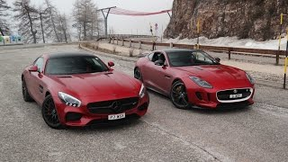 Mercedes AMG GT-S vs Jaguar F-Type R