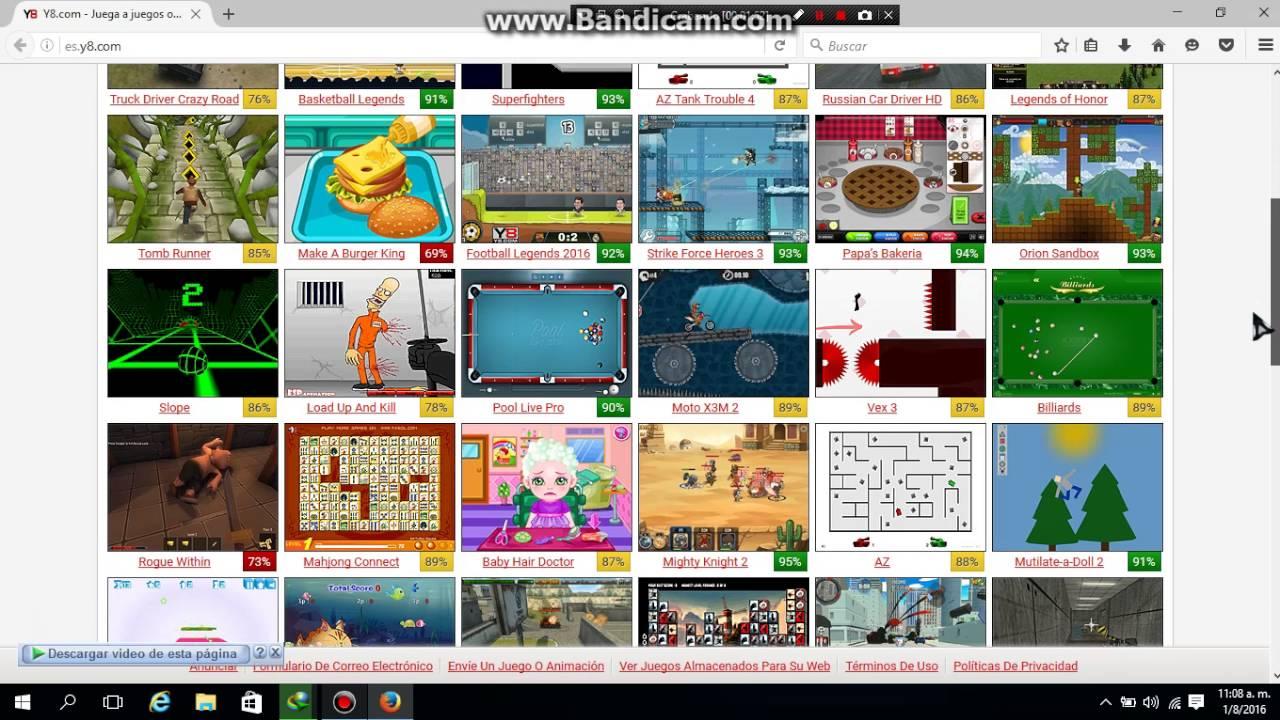 Tutorial De Como Descargar Juegos De Y8 Para Windox Muy Facil Youtube