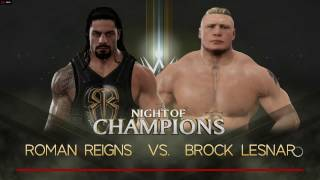 WWE 2K17 Gameplay On PC [Extreme Rules Match] :- Roman Reigns VS Brock Lesnar.....