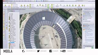3D Printing the Olympic Stadium - Solidworks timelapse