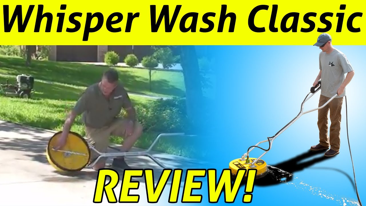 How to avoid pressure washer surface cleaner swirls youtube for Pressure washer concrete cleaner solution