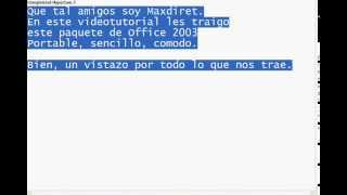 Microsoft Office Portable 2003 - ¡Word, Excel, Powerpoint!