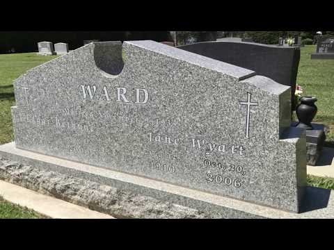 FAMOUS GRAVE TOUR: Actress Jane Wyatt's Grave In San Fernando Mission Cemetery, CA