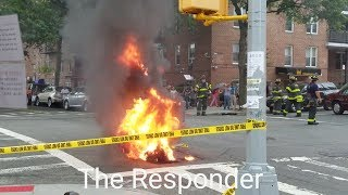 [FDNY] PRE ARRIVAL BOX 4458 - HEAVY FIRE & POPPING IN A MANHOLE