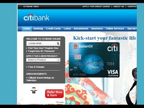 citi bank credit card login