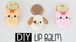 diy cat dog lip balm from scratch chocolate and cookies cream flavour