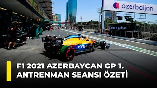 F1 2021 Azerbaycan GP 1. Antrenman Seansı Özeti