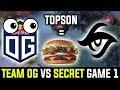 OG vs TEAM SECRET - WTF TI8 Winner Is Food For Team Secret |  Disney Major qualifiers