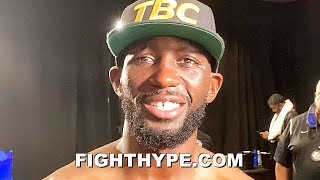 TERENCE CRAWFORD FULL POST-FIGHT AFTER KNOCKING OUT KELL BROOK; TALKS SPENCE, PACQUIAO, & MORE