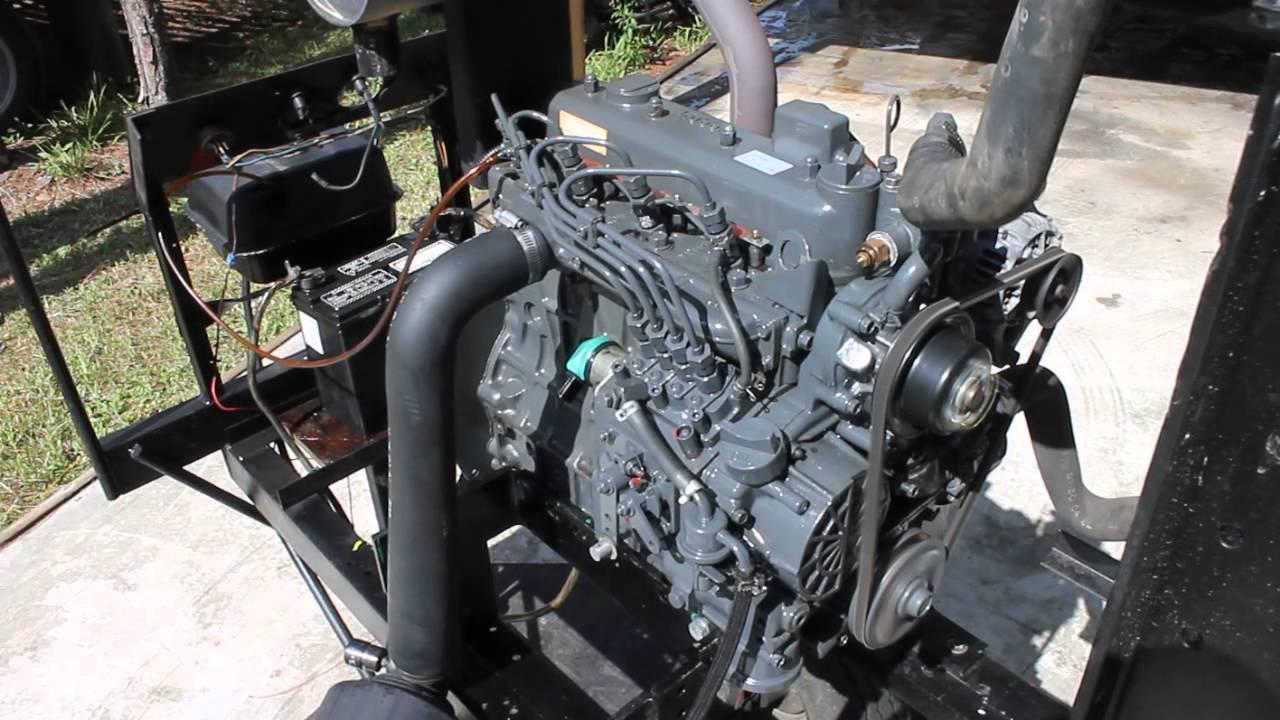 Kubota V1305 Diesel Engine : Kubota v diesel engine youtube