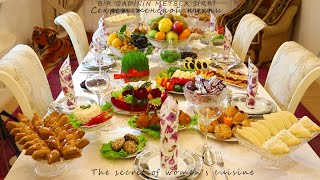 Festive table prepared by one Azerbaijani woman for 2 days -10 types of dishes