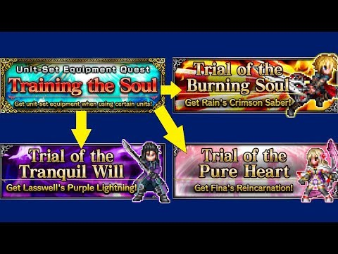 FFBE - Unit-Set Equipment Quest - Training the Soul - Rain / Lasswell / Fina