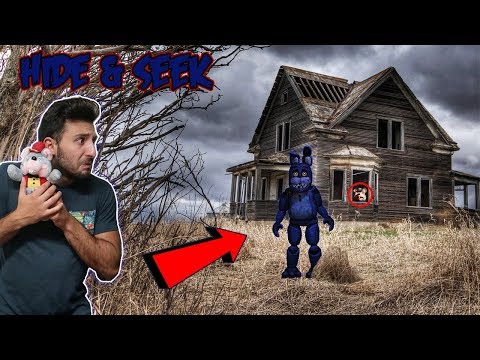 (FNAF BONNIE FOUND) CHUCK E CHEESE DOLL 3 AM ONE MAN HIDE AND SEEK CHALLENGE AT TOMS HOUSE