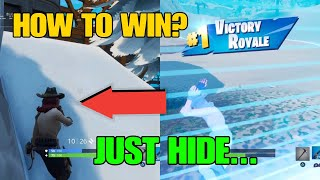 Fortnite Hiding Win How To Win A Solo Game In Fortnite By Hiding? The Best End Circle Hiding Spot