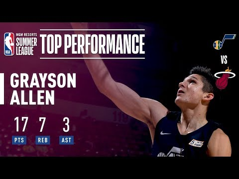 Grayson Allen Puts 17 Points In 2018 MGM Resorts Summer League Action