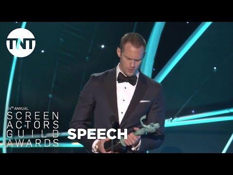 Alexander Skarsgard: Acceptance Speech  24th Annual SAG Awards  TNT