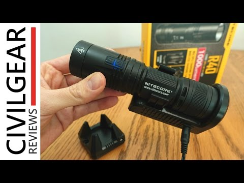 Nitecore R40 Flashlight Review ... go WIRELESS!