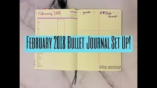 February 2018 BuJo // Bullet Journal Plan With Me #6