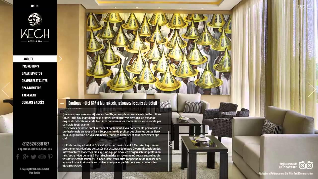 Création De Site Internet Au Maroc Et Référencement Naturel : Kech ... Modernes Design Spa Hotel