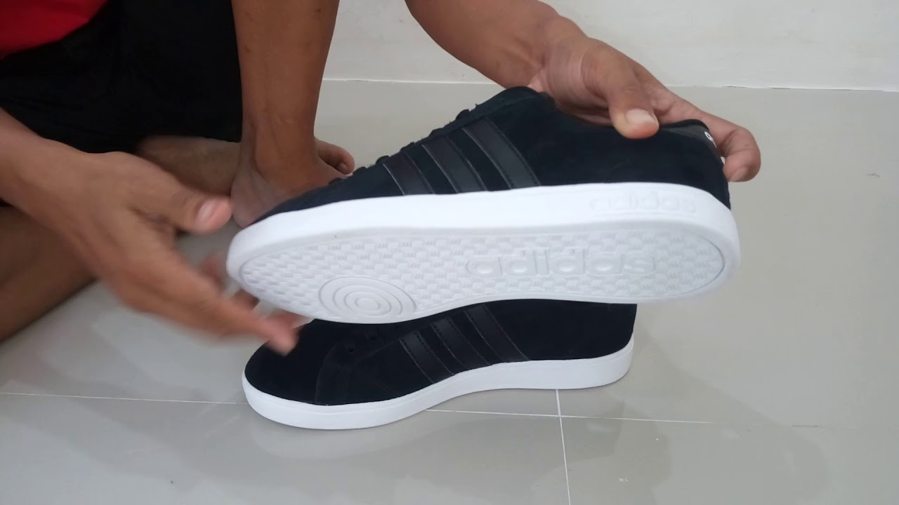 Harga Jual Sepatu Adidas Neo Baseline V2 Original Indonesia Sneaker Vl Court Skate Suede Men Core Black Bnwb