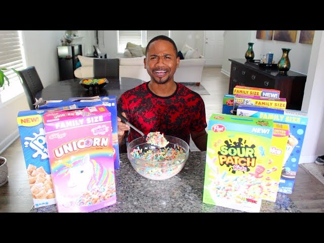 EATING All The WEIRD Cereals of 2019 | TASTE TEST | Alonzo Lerone