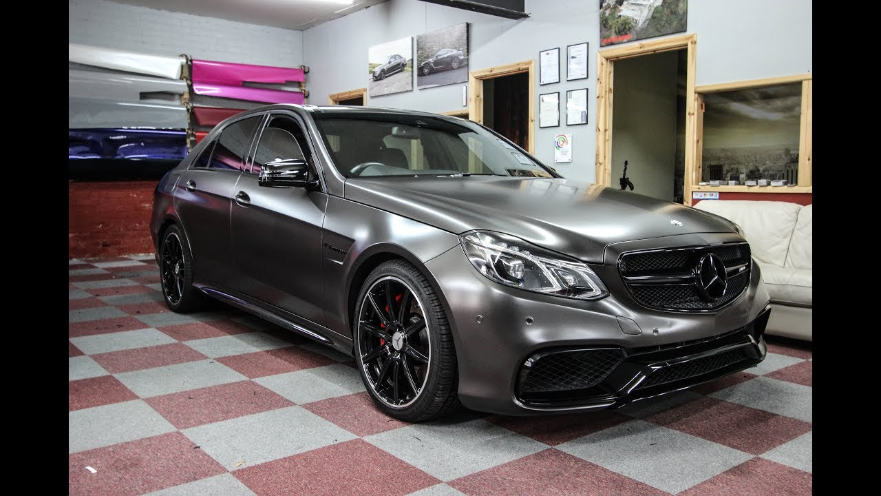 Mercedes E63 Nero Black Pearl Wrap Youtube