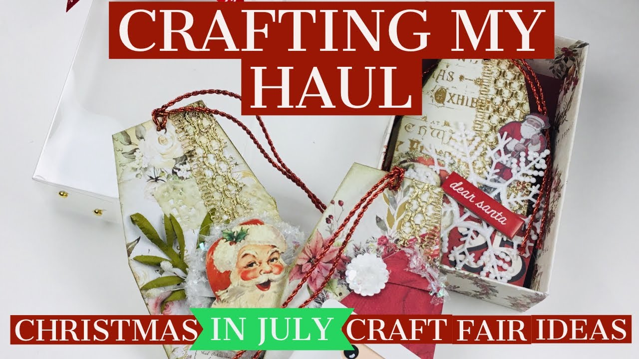 Christmas In July Ideas.Crafting My Christmas In July Haul Craft Fair Ideas Boxed Christmas Tags