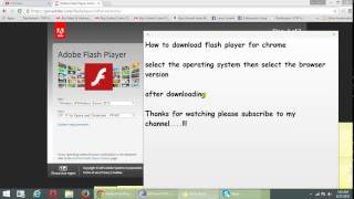 How to download flash player for chrome in windows 7 and windows 8(, 2015-05-27T23:45:43.000Z)