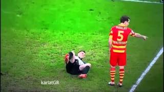 goalkeeper bartłomiej drągowski with the worst dive in the history of football vs lechia