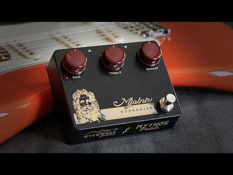 Mythos Pedals Wildwood Edition Mjolnir Overdrive Demo w/ Stratocaster