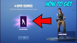 Fortnite-HOW TO GET BOOGIE DOWN EMOTE NOT APP NEEDED!!!