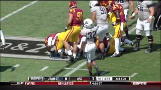 USC vs Utah St. 9-21-13 Highlights
